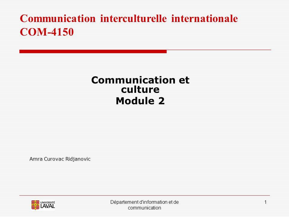 Département d information et de communication 12 2.6.