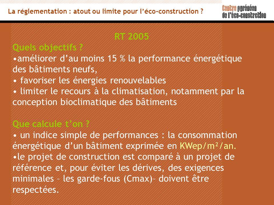 RT 2005 Quels objectifs .
