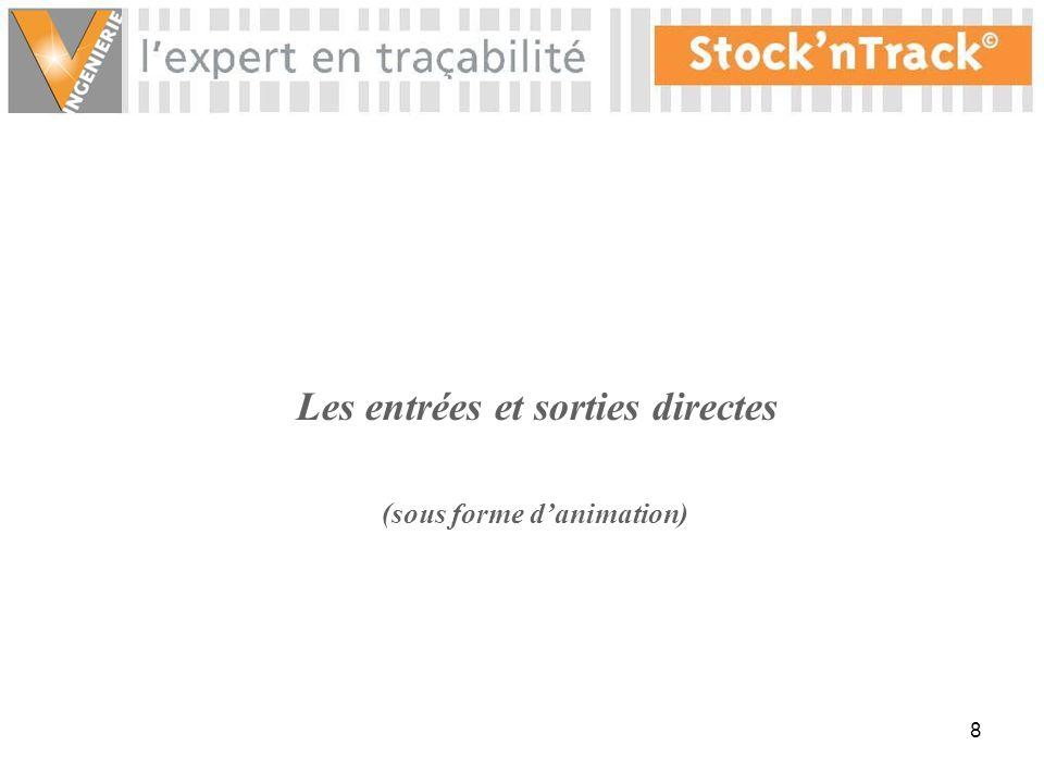 28 Possibilité dexport des écarts dinventaire en PDF, Word, Excel, Html… Fin danimation Cliquez pour continuer