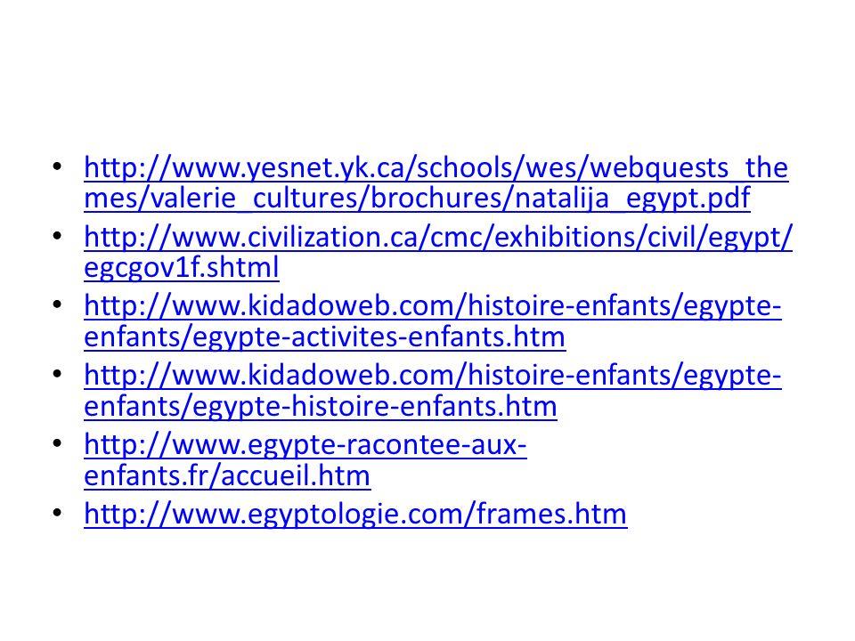 http://www.yesnet.yk.ca/schools/wes/webquests_the mes/valerie_cultures/brochures/natalija_egypt.pdf http://www.yesnet.yk.ca/schools/wes/webquests_the