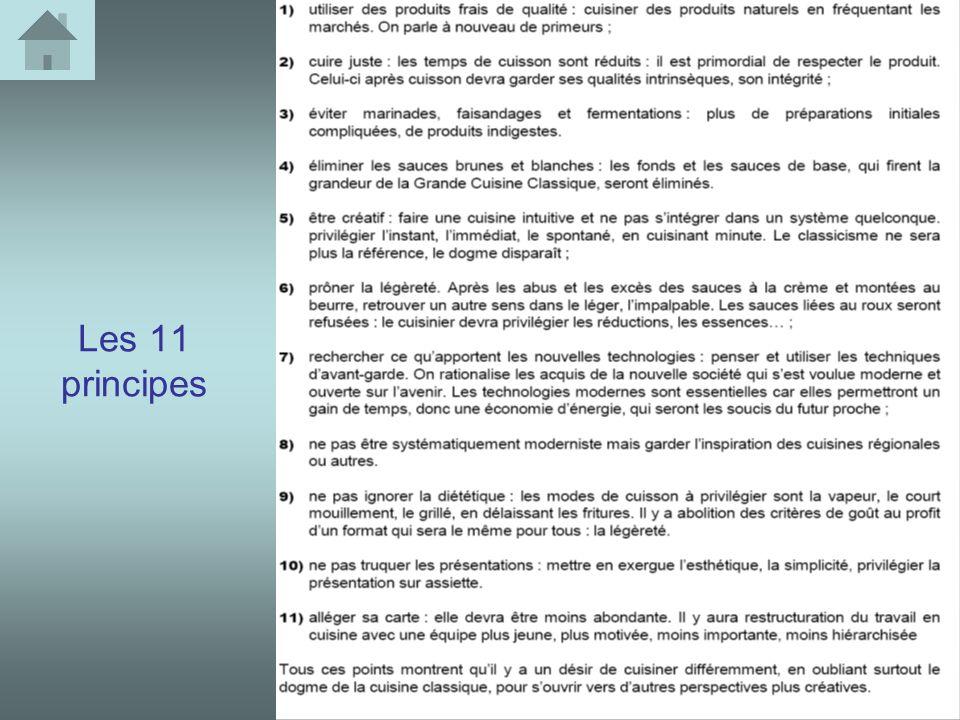 Les 11 principes