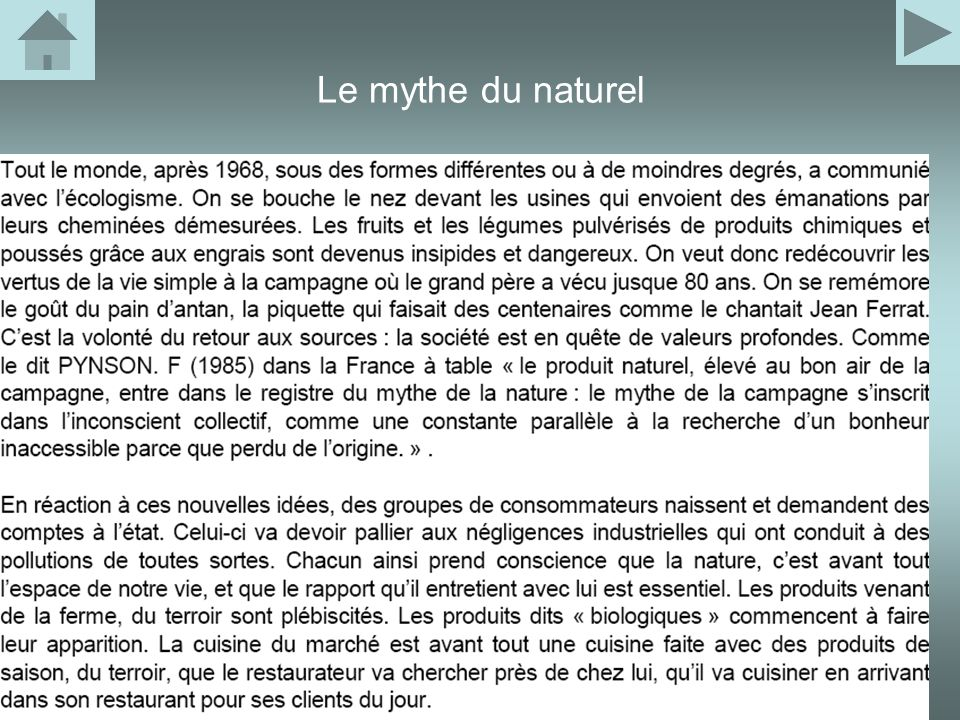 Le mythe du naturel