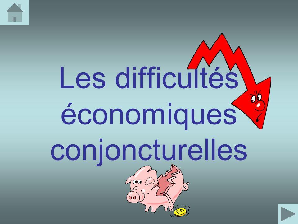 Les difficultés économiques conjoncturelles