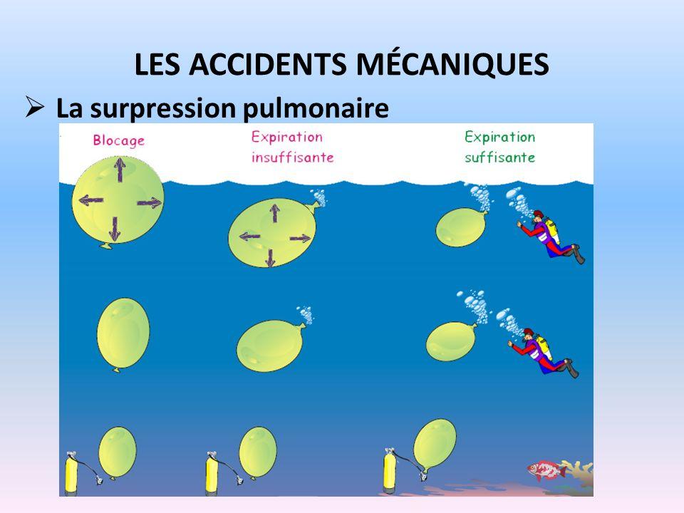 LES ACCIDENTS MÉCANIQUES La surpression pulmonaire