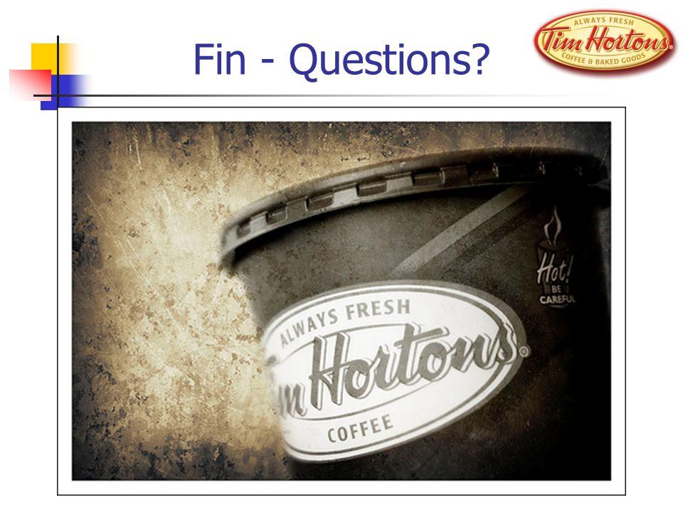 Fin - Questions?