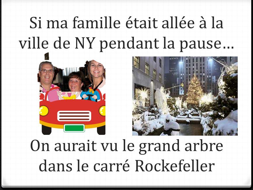 Si ma famille était allée à la ville de NY pendant la pause… On aurait vu le grand arbre dans le carré Rockefeller