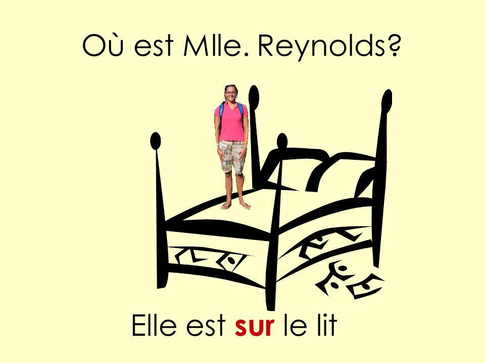 Où est Mlle. Reynolds Elle est sur le lit