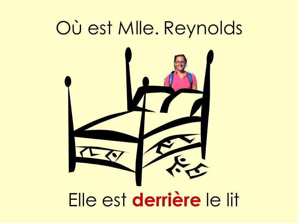 Où est Mlle. Reynolds Elle est derrière le lit