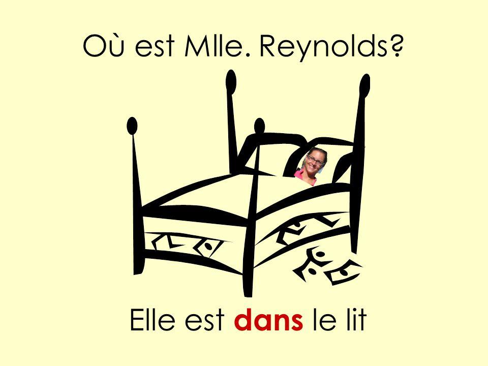 Où est Mlle. Reynolds Elle est dans le lit