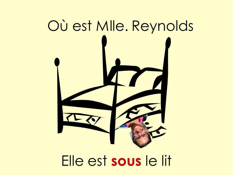 Elle est sous le lit Où est Mlle. Reynolds
