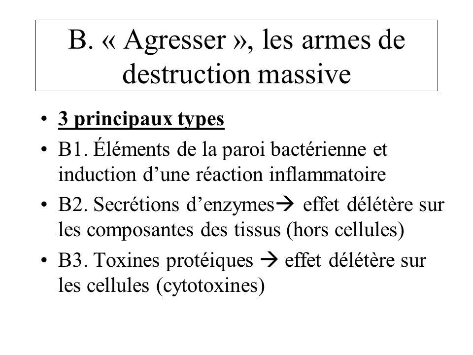 B.« Agresser », les armes de destruction massive 3 principaux types B1.