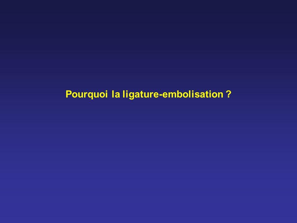 Pourquoi la ligature-embolisation ?