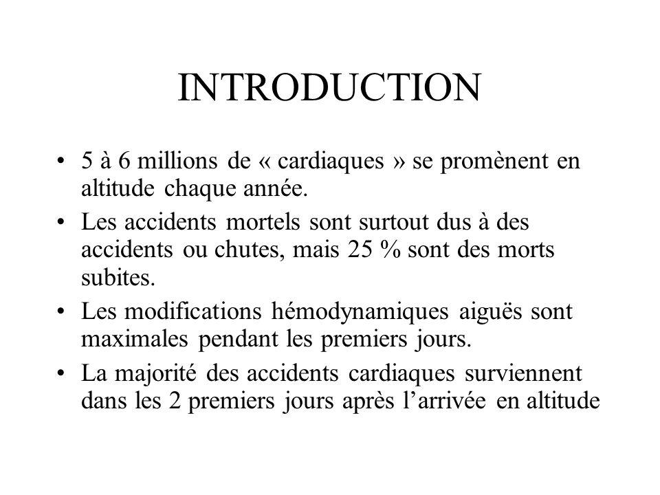 ADAPTATION A LALTITUDE Les grandeurs circulatoires F.C.