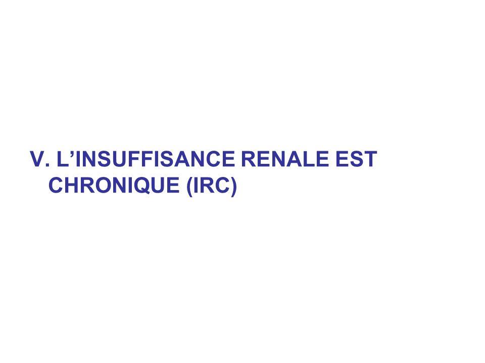 V. LINSUFFISANCE RENALE EST CHRONIQUE (IRC)