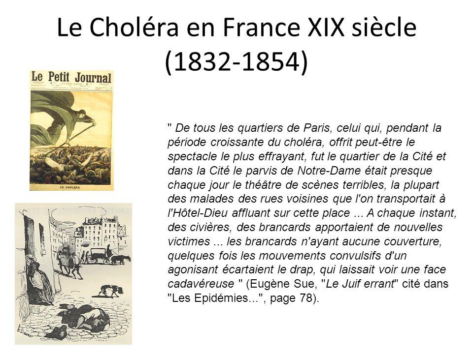 Le Choléra en France XIX siècle (1832-1854)