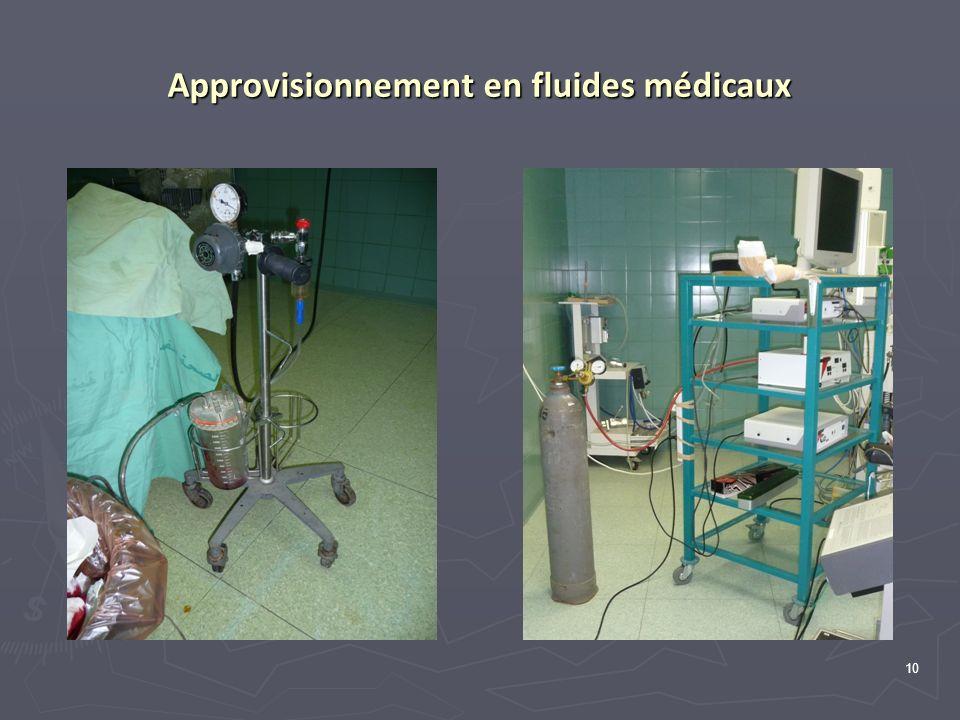 10 Approvisionnement en fluides médicaux