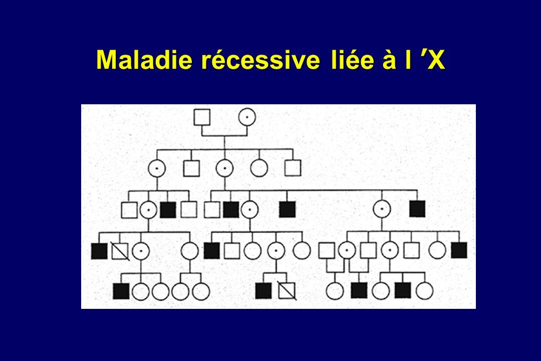 Maladie récessive liée à l X