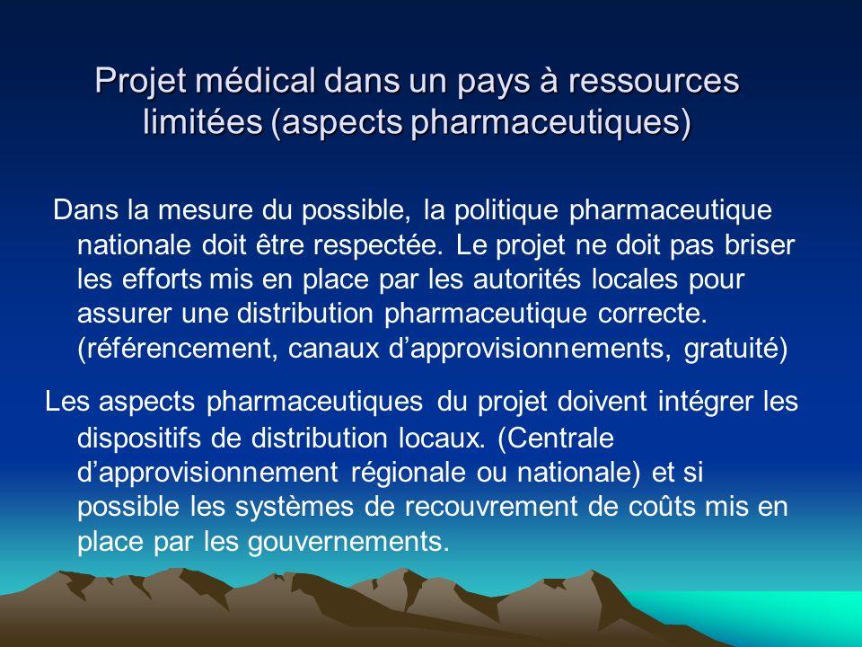 Médicaments dans les pays à ressources limitées Niveau dorganisation de moyens et/ou de ressources humaines insuffisantes. Gestion insuffisante des mé