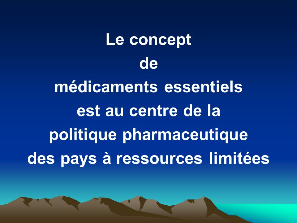 Les composantes dune politique pharmaceutique sélection des médicaments essentiels accessibilité économique options de financement système dapprovisio