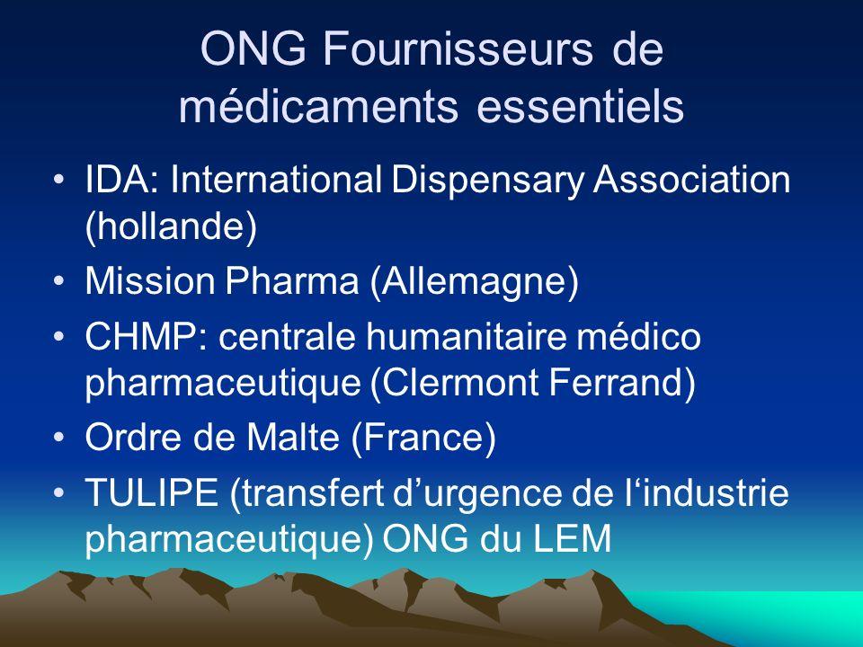 Obtenir des prix abordables Des informations sur les prix des médicaments essentiels Prix des fournisseurs, International Drug Price Indicator Guide (