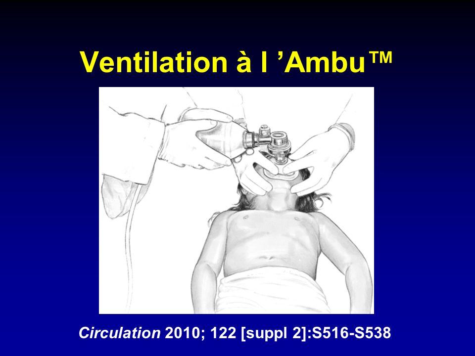 Ventilation à l Ambu Circulation 2010; 122 [suppl 2]:S516-S538