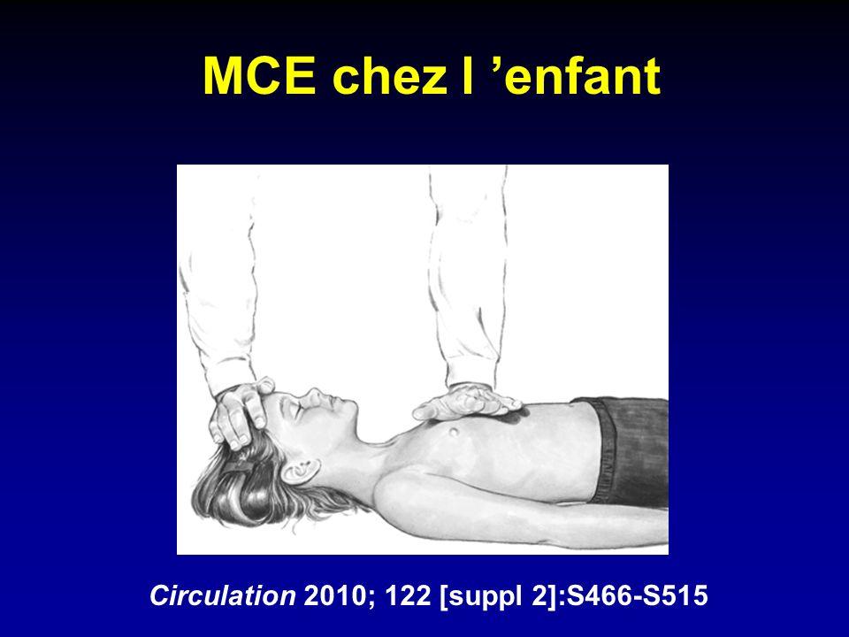 MCE chez l enfant Circulation 2010; 122 [suppl 2]:S466-S515
