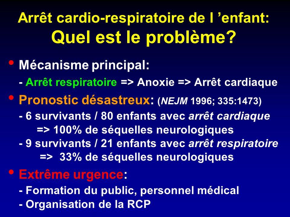 Arrêt cardio-respiratoire de l enfant: Quel est le problème.
