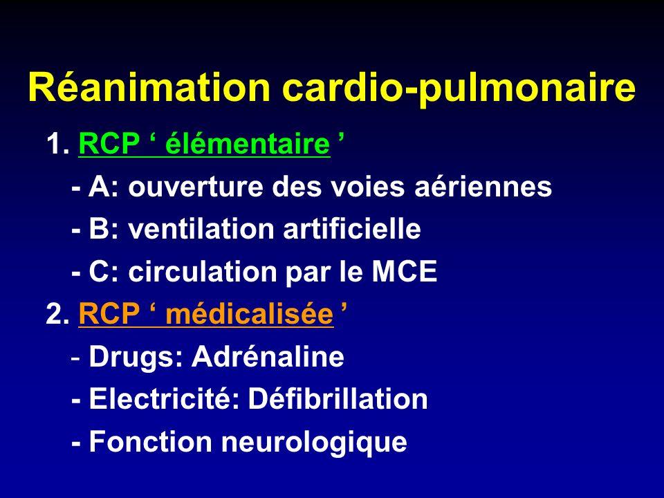 Réanimation cardio-pulmonaire 1.