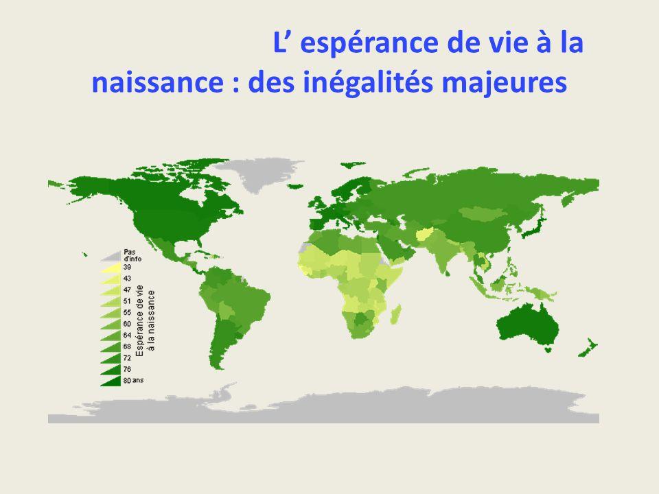 L espérance de vie à la naissance : des inégalités majeures