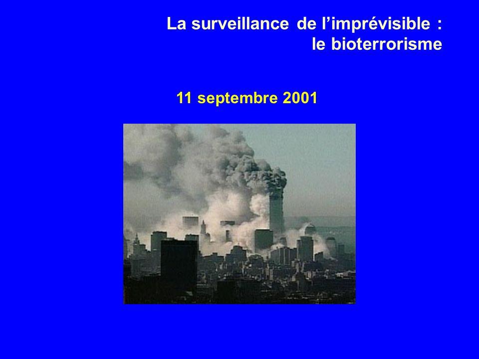 11 septembre 2001 La surveillance de limprévisible : le bioterrorisme