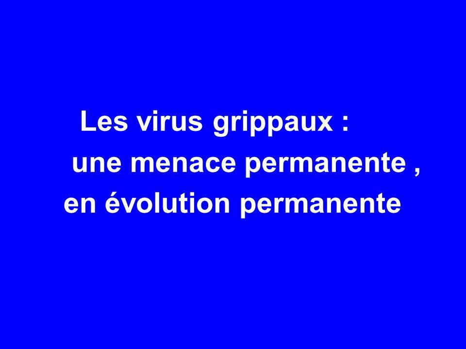 Les virus grippaux : une menace permanente, en évolution permanente