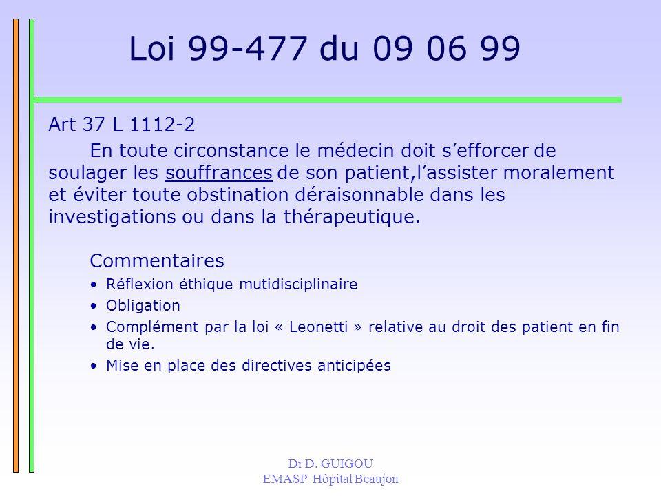 Dr D.GUIGOU EMASP Hôpital Beaujon Si lagitation de M.
