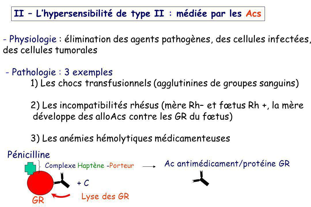 - Physiologie : élimination des agents pathogènes, des cellules infectées, des cellules tumorales - Pathologie : 3 exemples 1) Les chocs transfusionne