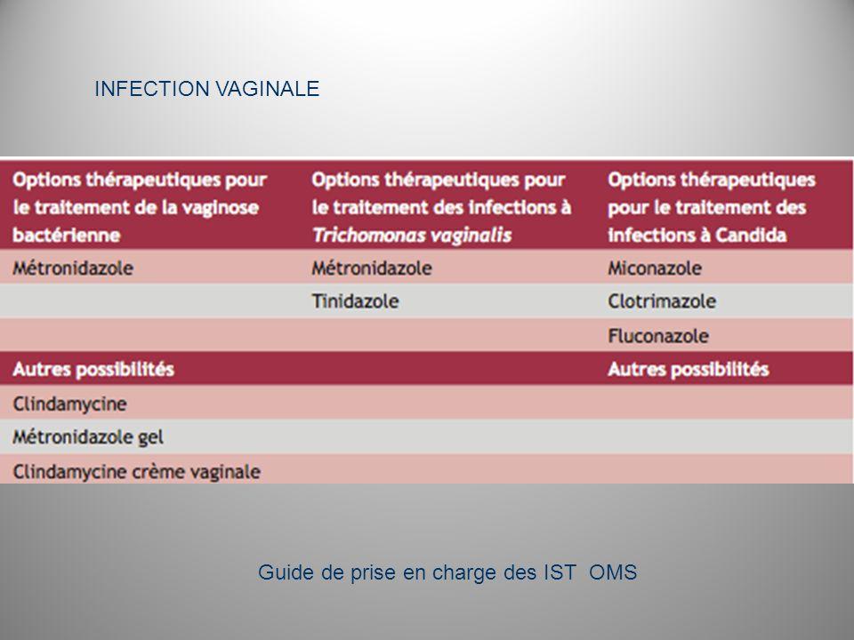INFECTION VAGINALE Guide de prise en charge des IST OMS
