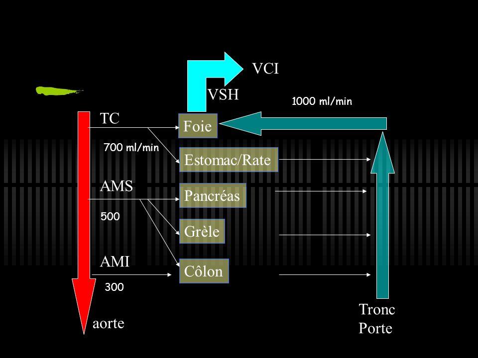 Circulation hépatique Interface sang/hépatocyte/bile mélange du sang veineux porte et artériel organisation en lobules centrés par artère, veine porte et canal biliaire ( 100.000) sinusoides V centrolobulaire Espace porte