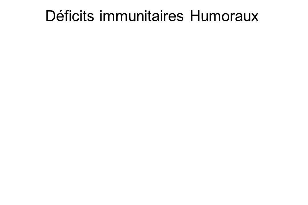 Déficits immunitaires Humoraux