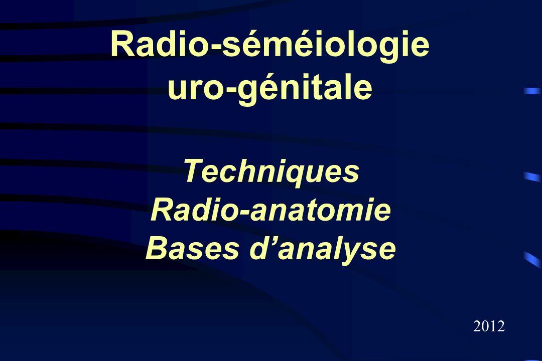 Radio-séméiologie uro-génitale Techniques Radio-anatomie Bases danalyse 2012