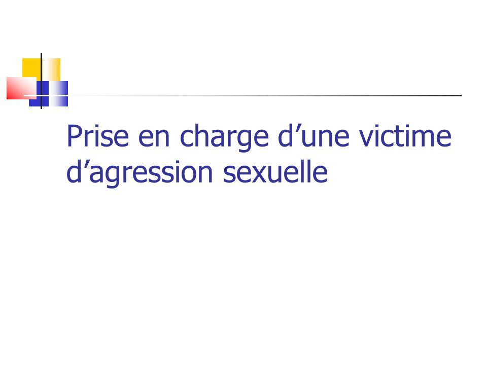 Prise en charge dune victime dagression sexuelle