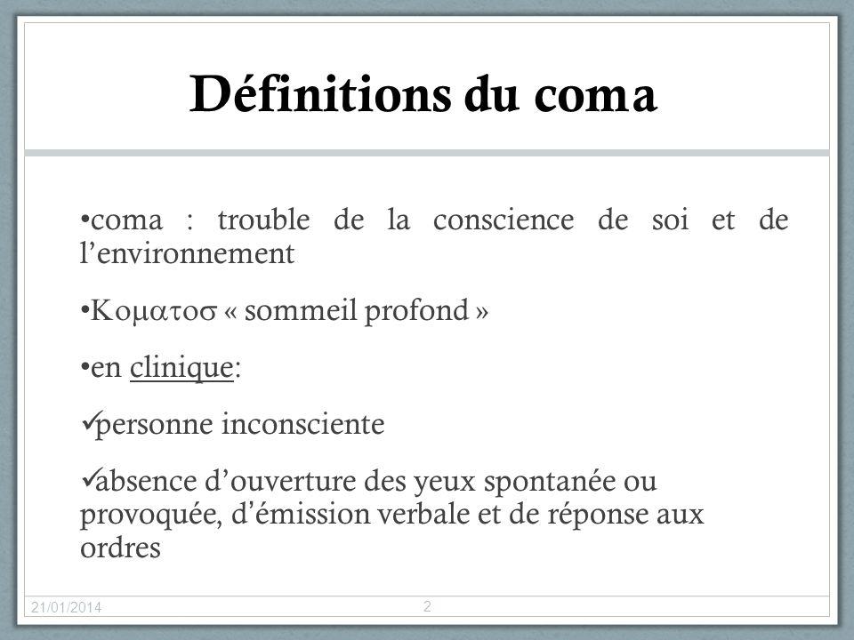 coma : trouble de la conscience de soi et de lenvironnement « sommeil profond » en clinique: personne inconsciente absence douverture des yeux spontan