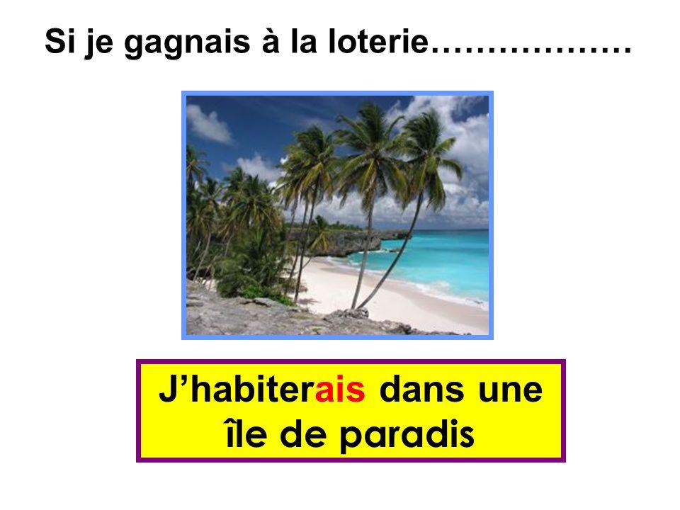 Jhabiterais dans une île de paradis Si je gagnais à la loterie………………