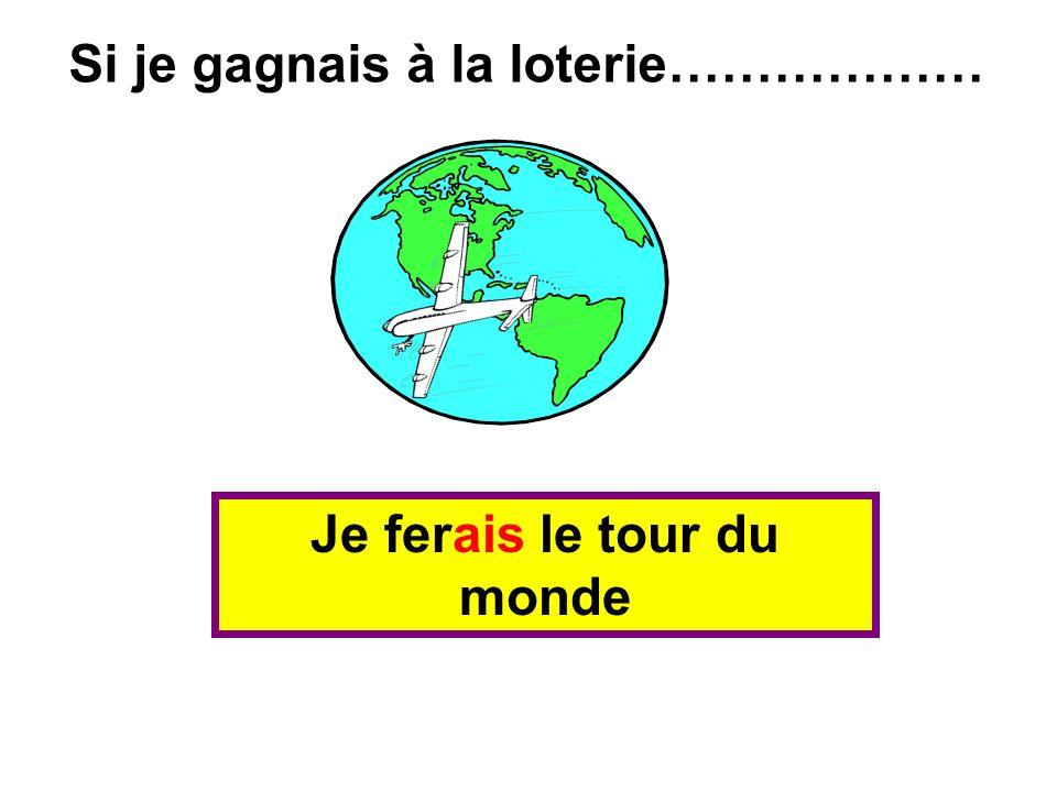 Je ferais le tour du monde Si je gagnais à la loterie………………