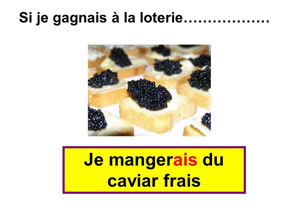 Je mangerais du caviar frais Si je gagnais à la loterie………………