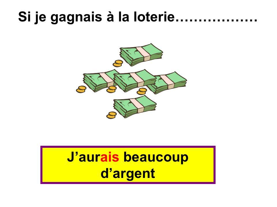 Jaurais beaucoup dargent Si je gagnais à la loterie………………