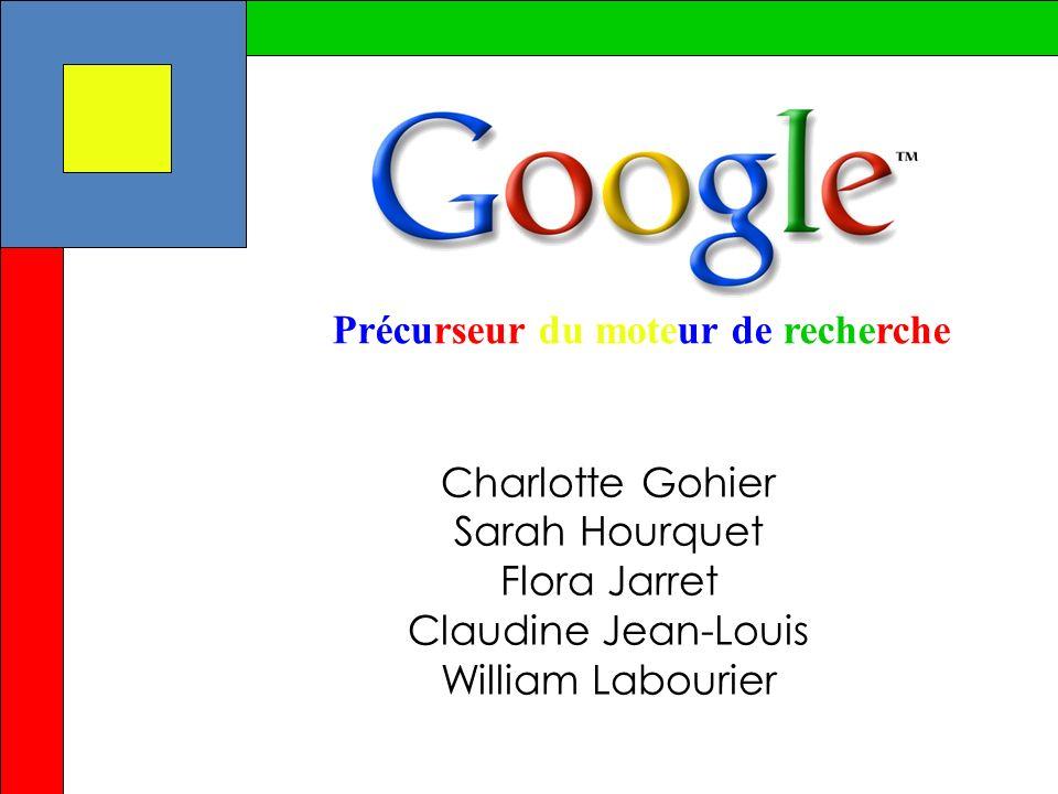 Charlotte Gohier Sarah Hourquet Flora Jarret Claudine Jean-Louis William Labourier Précurseur du moteur de recherche