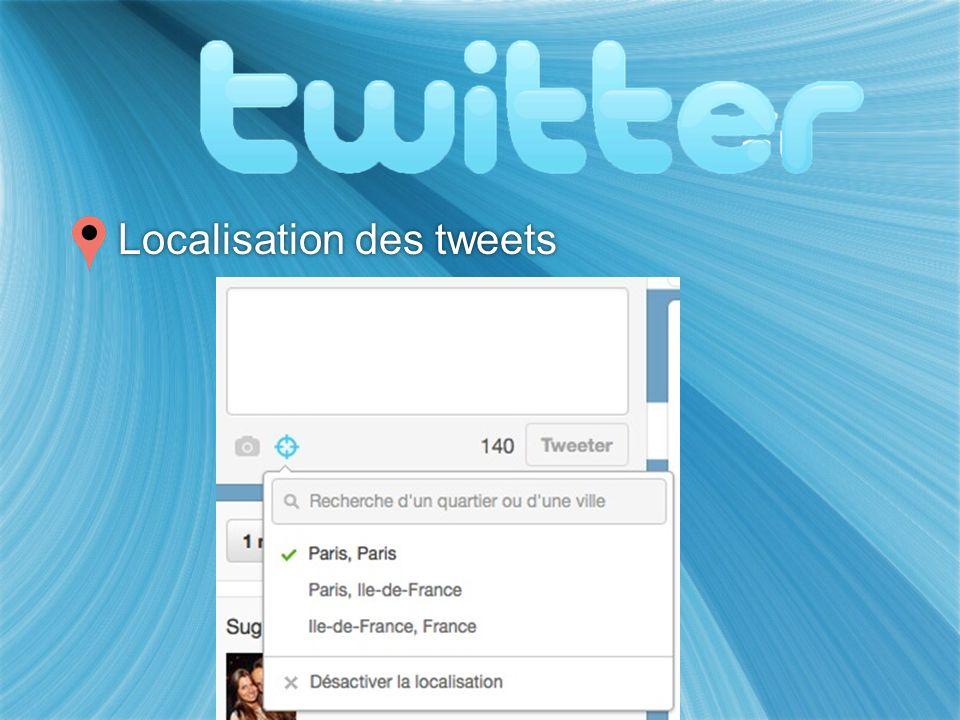 Localisation des tweets