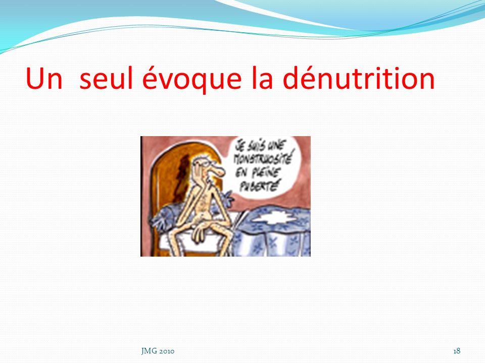 Un seul évoque la dénutrition JMG 201018