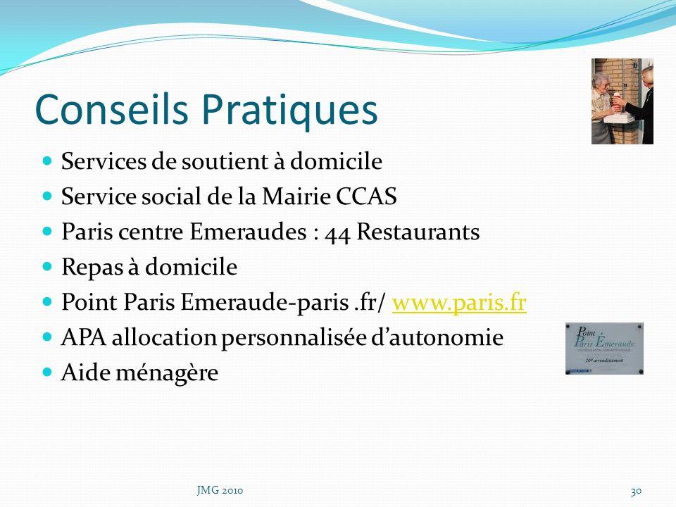Conseils Pratiques Services de soutient à domicile Service social de la Mairie CCAS Paris centre Emeraudes : 44 Restaurants Repas à domicile Point Par