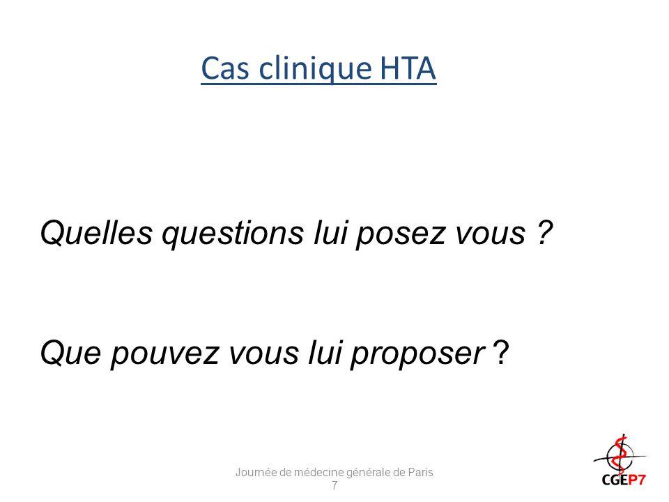 Régime hyposodé et HTA Journée de médecine générale de Paris 7 (Bibbins-Domingo K, NEJM 362:590-9)