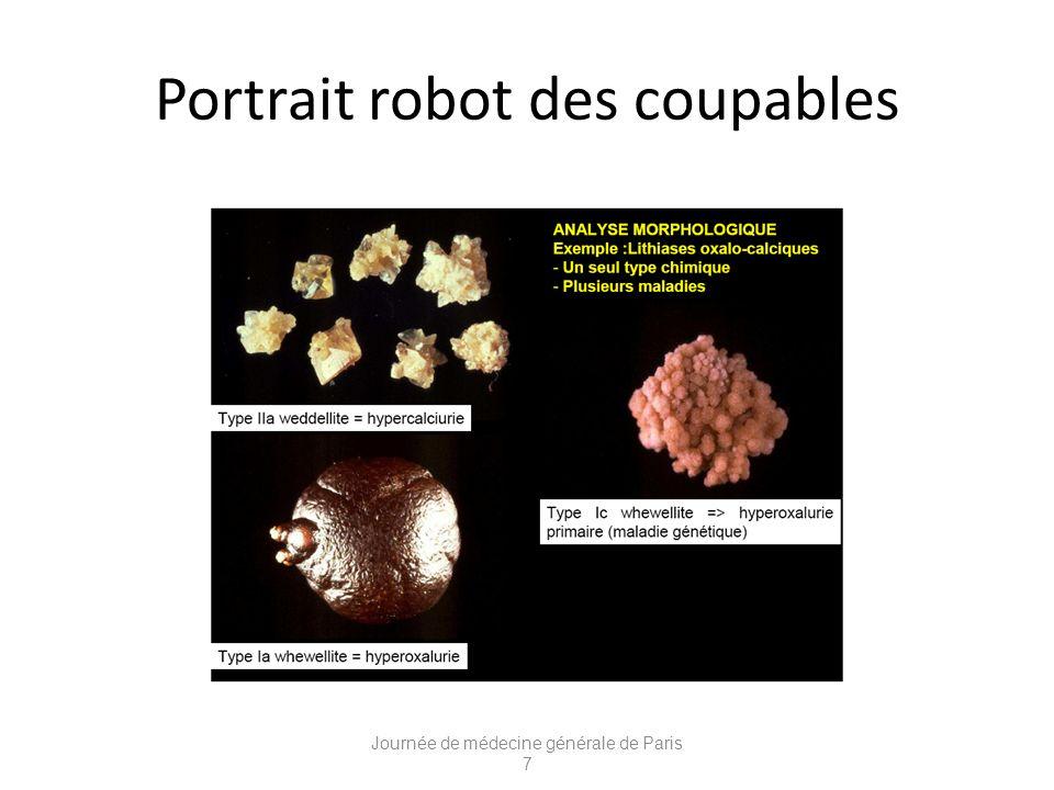 Portrait robot des coupables Journée de médecine générale de Paris 7