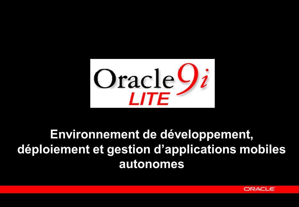 Environnement de développement, déploiement et gestion dapplications mobiles autonomes